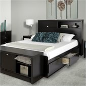 Prepac Series 9 Designer Bed in Black
