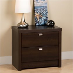 Prepac Series 9 Designer 2 Drawer Nightstand in Espresso