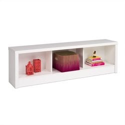 Prepac Calla Storage Bench in White Laminate
