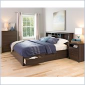 Prepac Fremont King 4 Piece Bedroom Set in Espresso