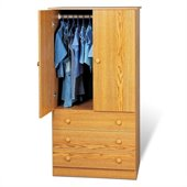 Prepac Oak Juvenile TV/Wardrobe Armoire