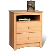 Prepac Sonoma Maple Tall 2 Drawer Night Stand