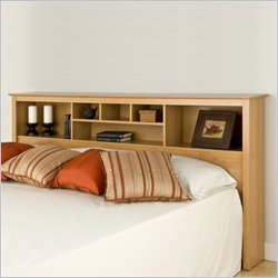Prepac Sonoma King Bookcase Headboard in Maple