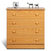 Prepac 4 Drawer Chest in Oak Finish