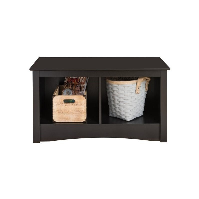 Sonoma Black Twin Cubby Bench