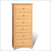 Prepac Sonoma 6 Drawer Lingerie Chest in Maple Finish