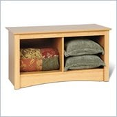 Prepac Sonoma Maple Twin Cubby Bench