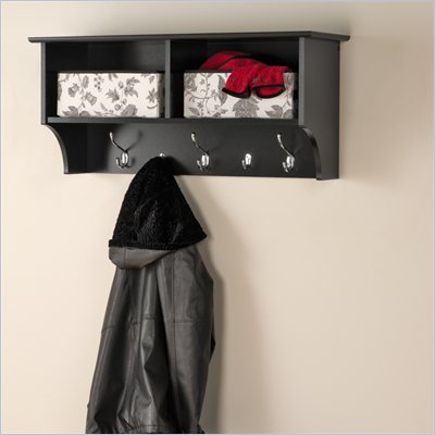 "Prepac 36"" Wide Hanging Entryway Shelf in Black"