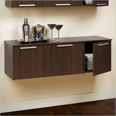 Prepac Coal Harbor Wall Mounted Buffet in Espresso