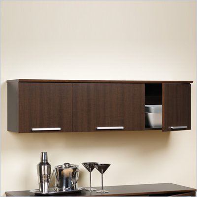 Prepac Coal Harbor Wall Mounted Hutch in Espresso