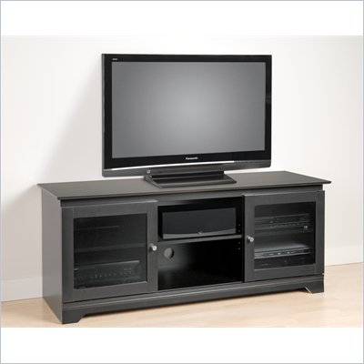 Prepac Ferentino 60&quot; Black TV Stand