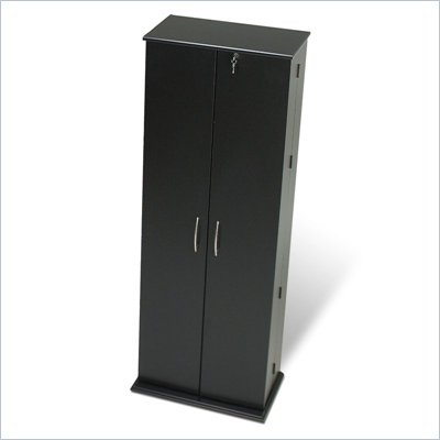 Prepac Grande Locking CD DVD Media Storage Cabinet in Black