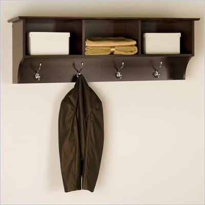 Prepac Fremont Espresso Cubbie Shelf