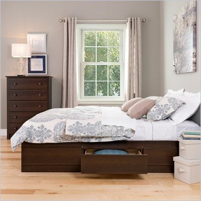 Prepac Manhattan Queen Platform Storage Bed