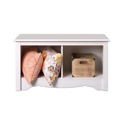 Prepac Monterey White Twin Cubby Bench
