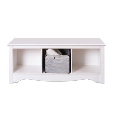 Prepac Monterey White Cubby Bench