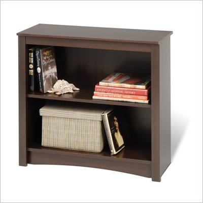 Prepac 29&quot; 2 Shelf Bookcase in Espresso Finish
