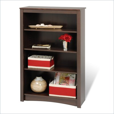 Prepac 48&quot; 4 Shelf Bookcase in Espresso Finish