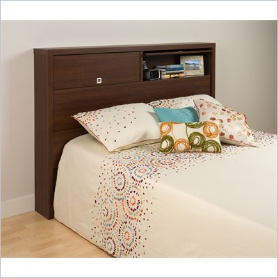Prepac Series 9 Designer Full / Queen Headboard in Medium Brown Walnut