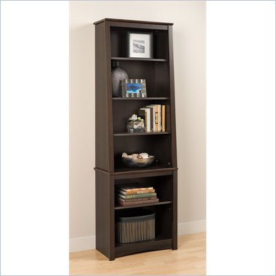 Prepac Slant-Back Bookcase in Espresso Finish