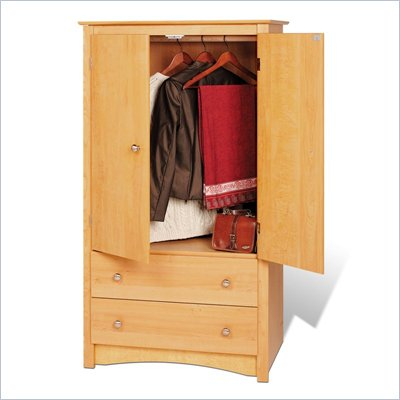 Prepac Sonoma Maple TV/Wardrobe Armoire