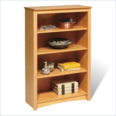 "Prepac Sonoma 4 Shelf 48""H Wood Bookcase in Maple"