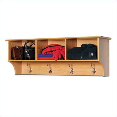 Prepac Sonoma Maple Cubbie Wall Coat Rack for Entryway
