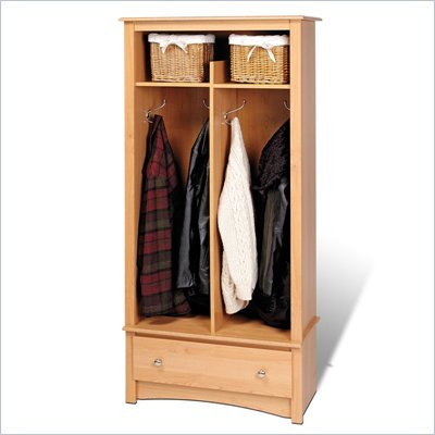 Prepac Sonoma Maple Entryway Hall Tree Organizer