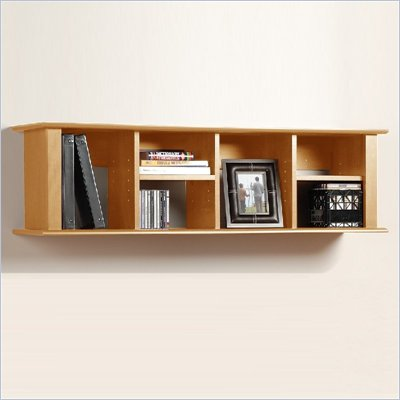 Prepac Sonoma Maple Wall Mount Bookcase