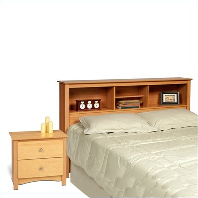 Prepac Sonoma Maple Double or Queen Bed 2 Piece Bedroom Set