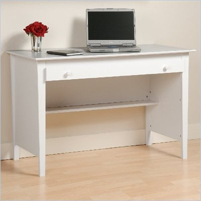 Prepac Belcarra Series Contemporary Wood  Laptop Desk in White