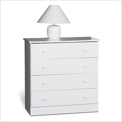 Prepac 4 Drawer Chest in White