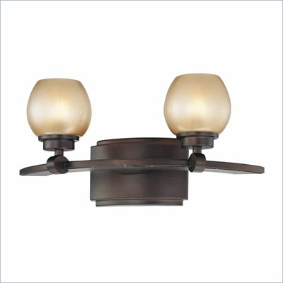 Minka Lighting Cimarron 2 Light Bath Minka Lavery in Dark Brushed Bronze with Brushed Caramel Silk Glass