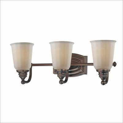 Minka Lighting Clairemont 3 Light Bath Minka Lavery in Dark Brushed Bronze with Etched Opal Glass