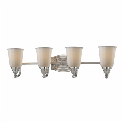 Minka Lighting Clairemont 4 Light Bath Minka Lavery in Brushed Nickel with Etched Opal Glass
