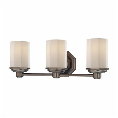 Minka Lighting Falstone 3 Light Bath Minka Lavery in Dark Brushed Bronze with Etched Opal Glass