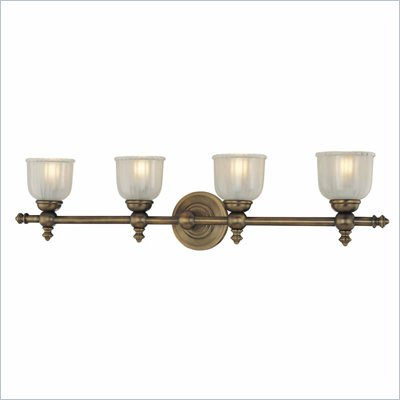 Minka Lighting Fordyce 4 Light Bath Minka Lavery in Dark Brushed Bronze with Clear Etched Glass