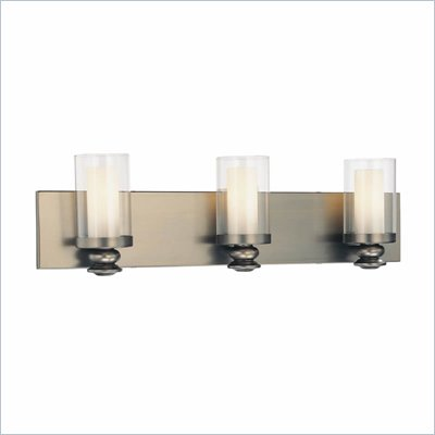 Minka Lighting Harvard Court 3 Light Bath Minka Lavery in Bronze with Clear and Etched Opal Glass