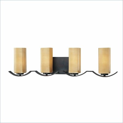 Minka Lighting Kinston 3 Light Bath Minka Lavery in Aged Kinston Bronze with Mottled Topaz Glass