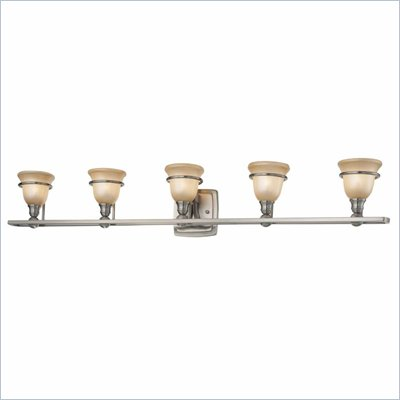 Minka Lighting Lacota 5 Light Bath Minka Lavery in Brushed Nickel with Brushed Caramel Silk Glass