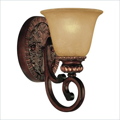 Minka Lighting Lavery 1 Light Bath Fixture with Aged Champagne Glass