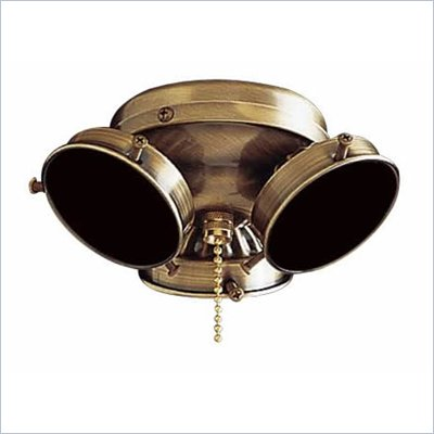 Minka Aire 3 Bulb Universal Ceiling Fan Light Kit in Antique Brass