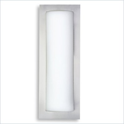 George Kovacs 1 Light Wall Sconce in Brushed Steel
