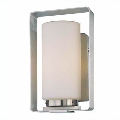 George Kovacs 1 Light Wall Sconce in Brushed Aluminum