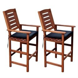 CorLiving Miramar Pario Bar Stool in Cinnamon Brown (Set of 2)