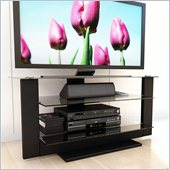 Sonax Atlantic 32-52 Inch Flat Panel TV Stand in Black Lacquer Finish