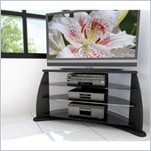 Sonax Florence Contemporary 37-52 inch Flat Panel TV Stand in Black Lacquer