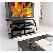 Sonax Milan 50-inch HD Plasma/LCD TV Stand in Gun Metal Finish