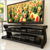 Sonax Sonoma Black Contemporary TV Stand for 50-68 Inch Flat Panel HD TVs