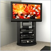 Sonax Zurich Black Swivel Base Mounted TV Stand for 37-52 TVs
